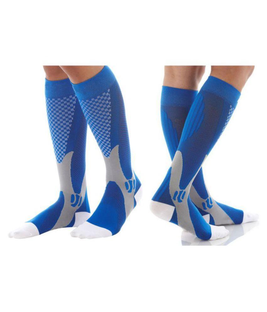 1 pair Anti-Fatigue Socks Women Men Sports Compression Stockings Stretch Socks