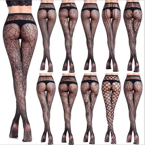 19 Styles Womens Sexy Fishnet Tights Jacquard Pantyhose Stockings Lingerie