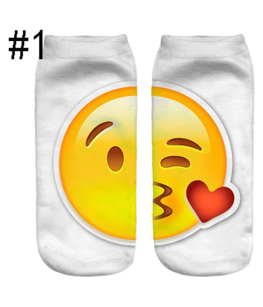 Hip Hop Men and Women Socks 3D Printed Emoji Socks Uni Cotton Socks