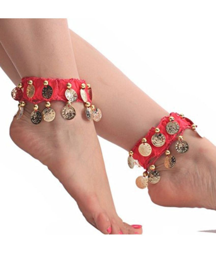 Belly Dance Anklets Dancewear Coins Foot Chain Indian Gypsy Ankle Chain 8 Colors