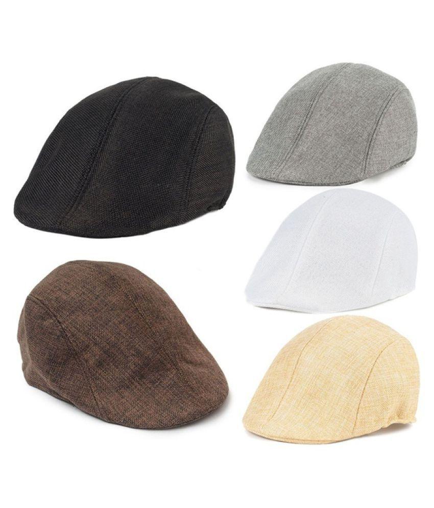 7b197a7d9ce59 New Uni Men Beret Women Hat Baker Boy Peaked NewsBoy Bonnet Homme Golf Hat  Beret Flat ...