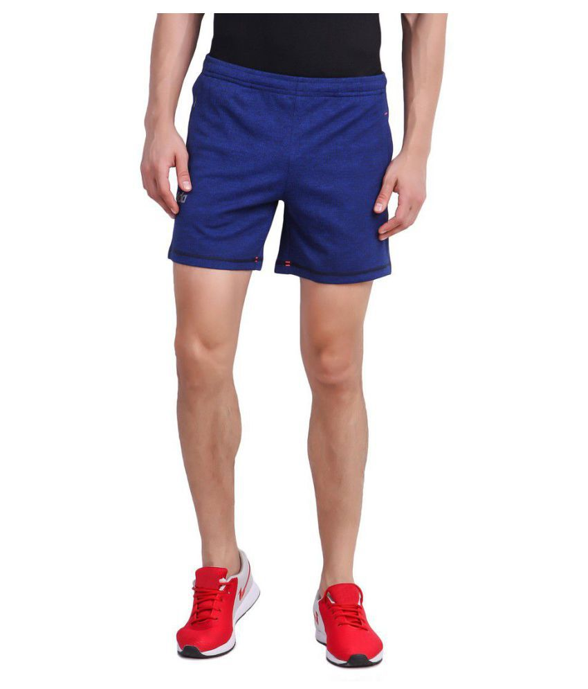 DIDA Navy Polyester Fitness Shorts