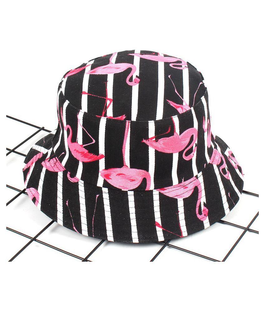 fe5150244c0 ... Fashion Tropical Plant Double Side Bucket Hat Flamingo Leaf Boonie Hat  Men and Women s Sun Hat