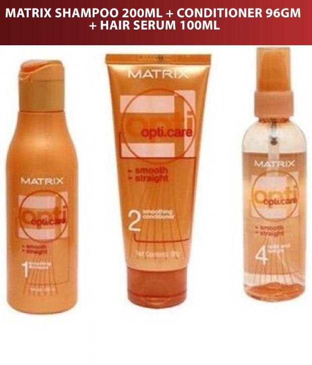matrix opticare smooth straight shampoo 200 ml conditioner 96 gm