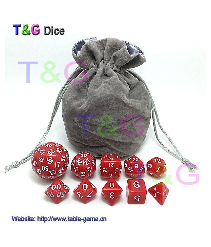 10pcs Digital Dice Set with Bag DUNGEONS & DRAGONS 4 Colors