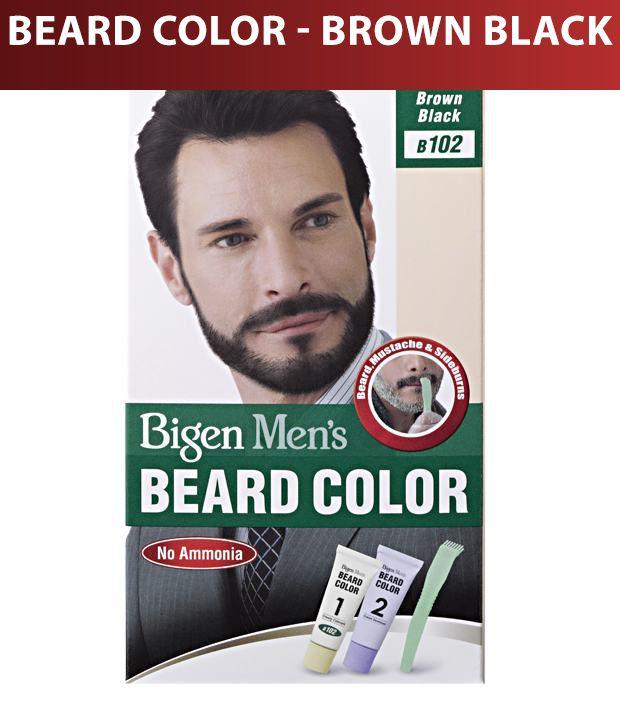 Bigen Men's Beard Color B-102 Brown Black
