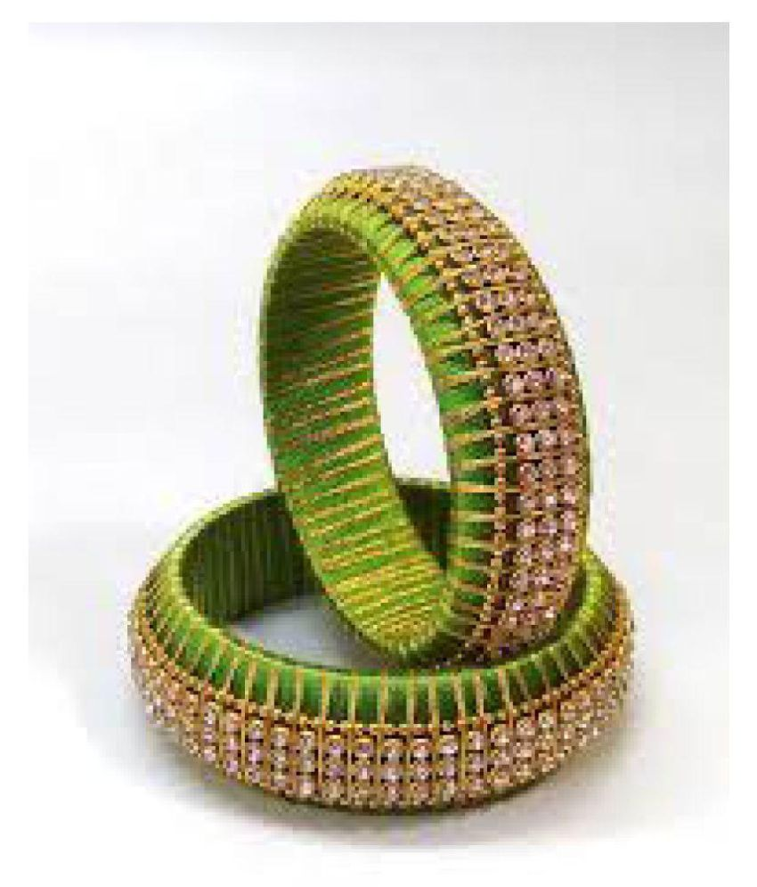 Silk Thread Bangles For Girls Or Womans