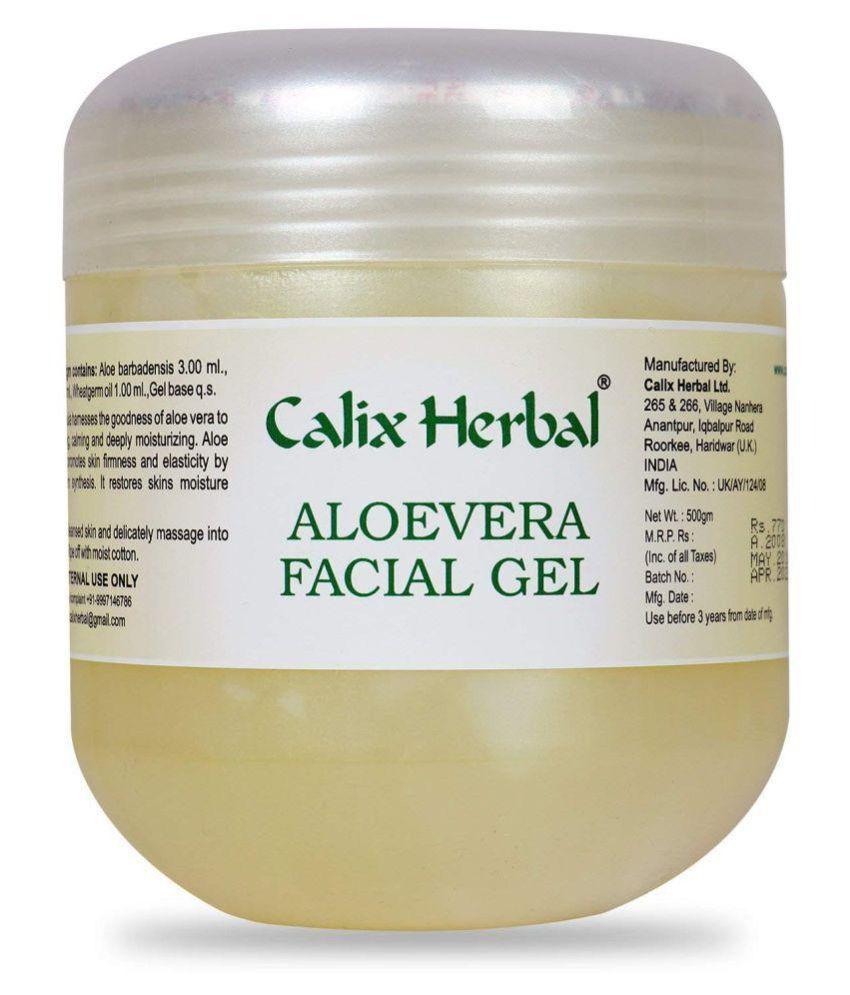 Calix Herbal Aloevera Facial Gel for Moisture Balance and Skin Elasticity Moisturizer 500 gm