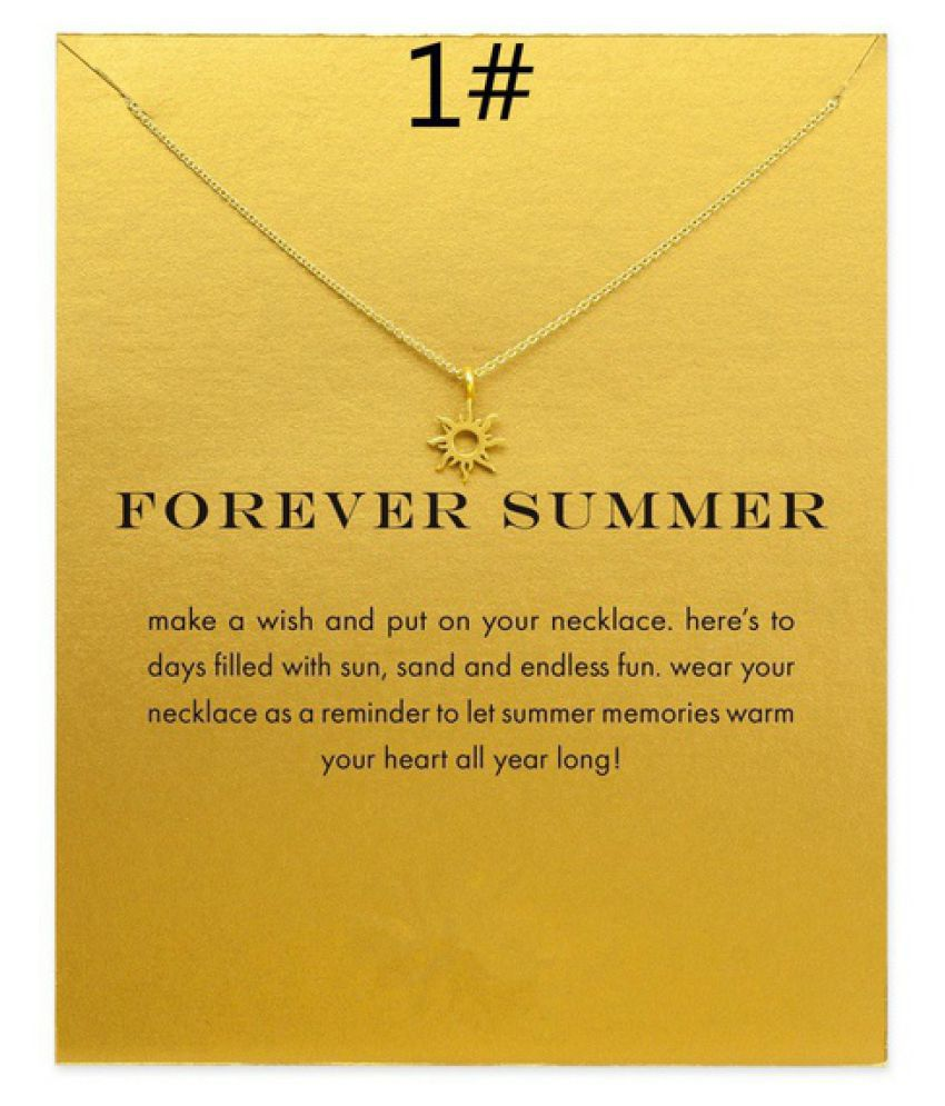 Good Lucky Pendant Necklace Gold Plated Clavicle Chains Statement Necklace For Women Gifts Jewelry(Has Card)(SIZE:24)