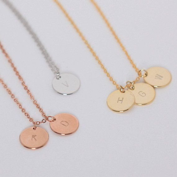 Personalized Initial Necklace Stocking Stuffer Letter Necklace for Women