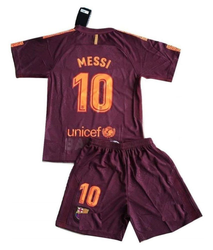 more photos 48da4 d8f37 Barcelona 3rd kit for Kids - Youth Sizes for Boys & Girls - New Latest  Season 2017 - 2018 MESSI PRINTED