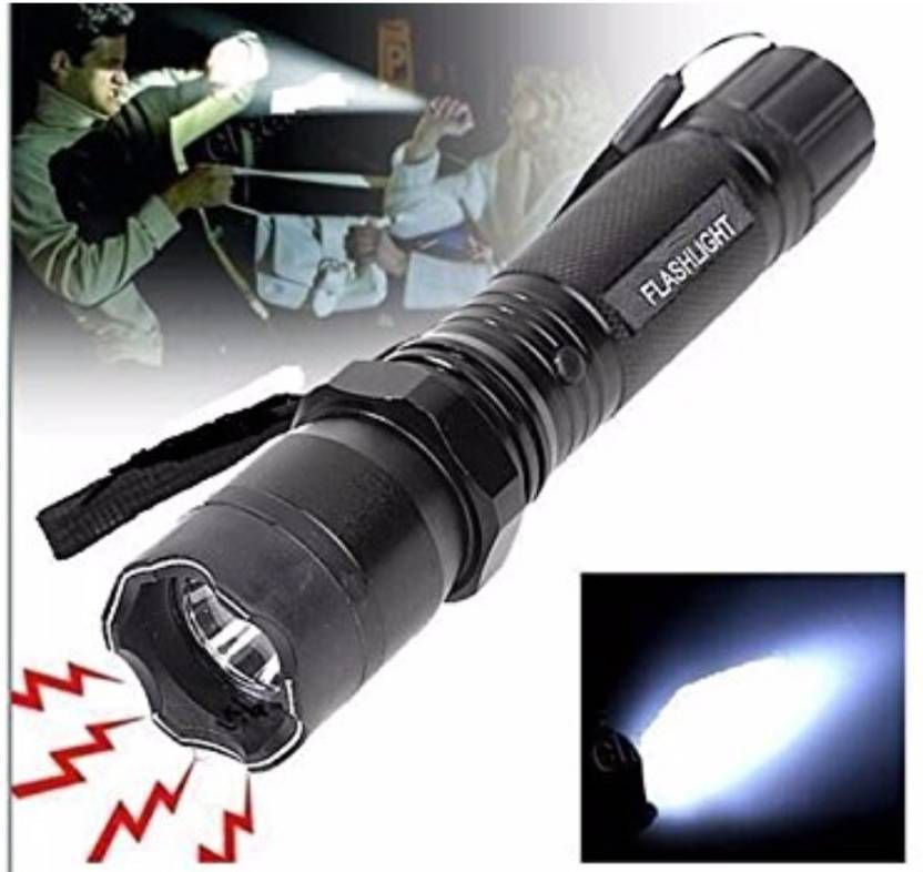 Home Pro 6W Flashlight Torch/ LED Light/Stun Gun 1101 With Charging Cable -  Pack of 1