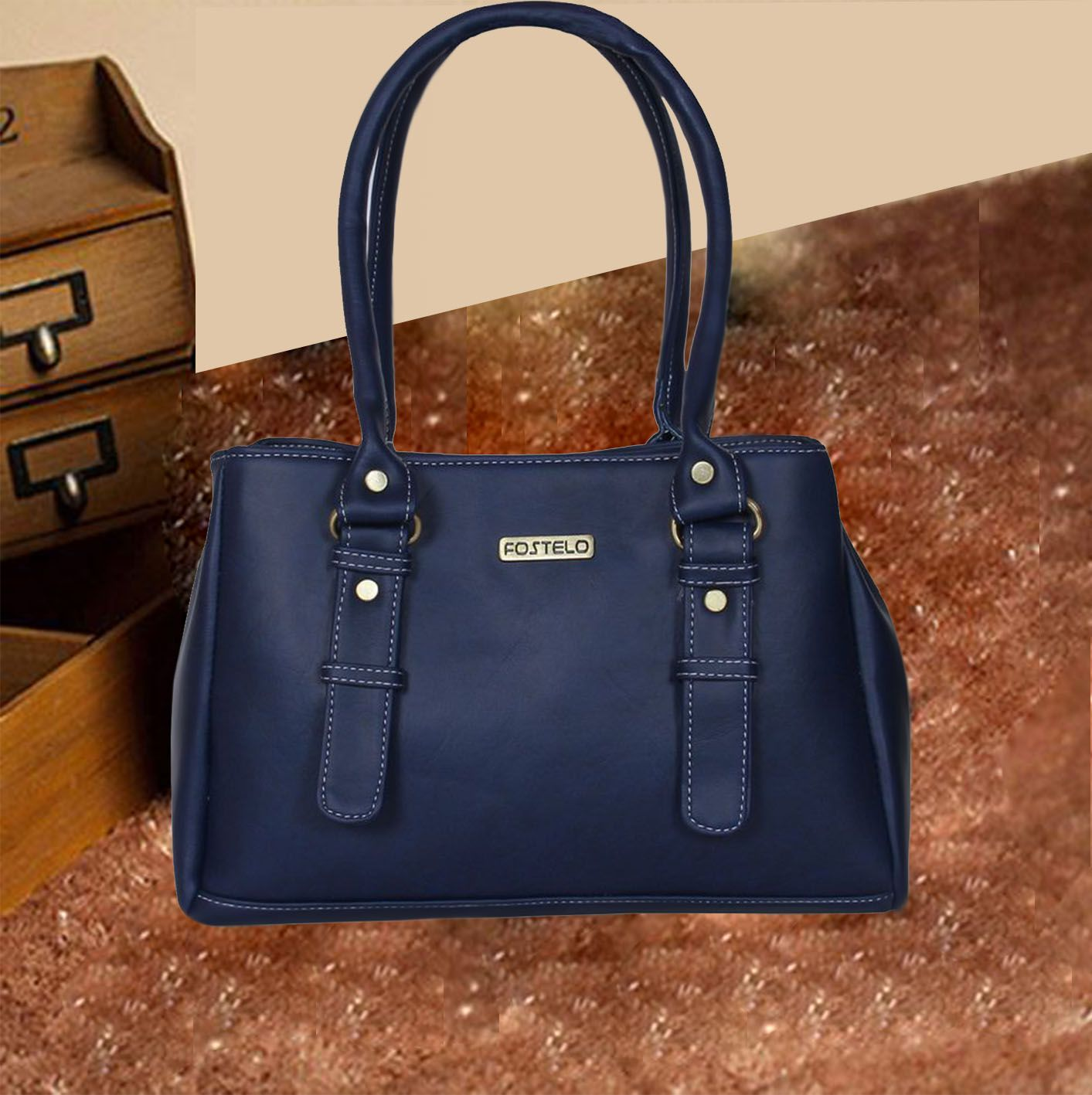 Fostelo Blue Shoulder Bag