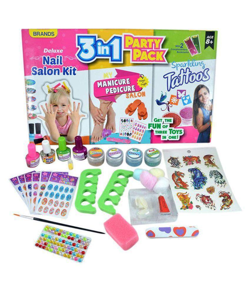 INSTABUYZ Nail Salon Kit My Manicure Pedicure Salon & Sparkling ...