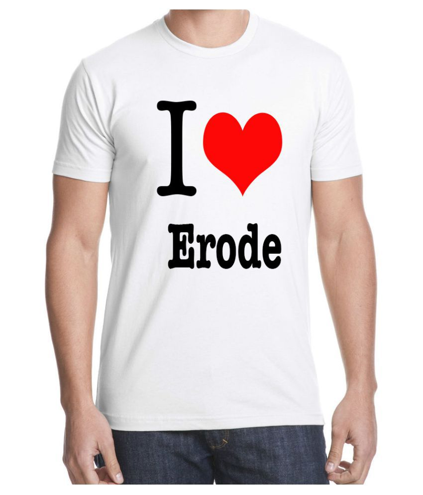 RITZEES White Dry-Fit Polyester Tshirt on I love Erode