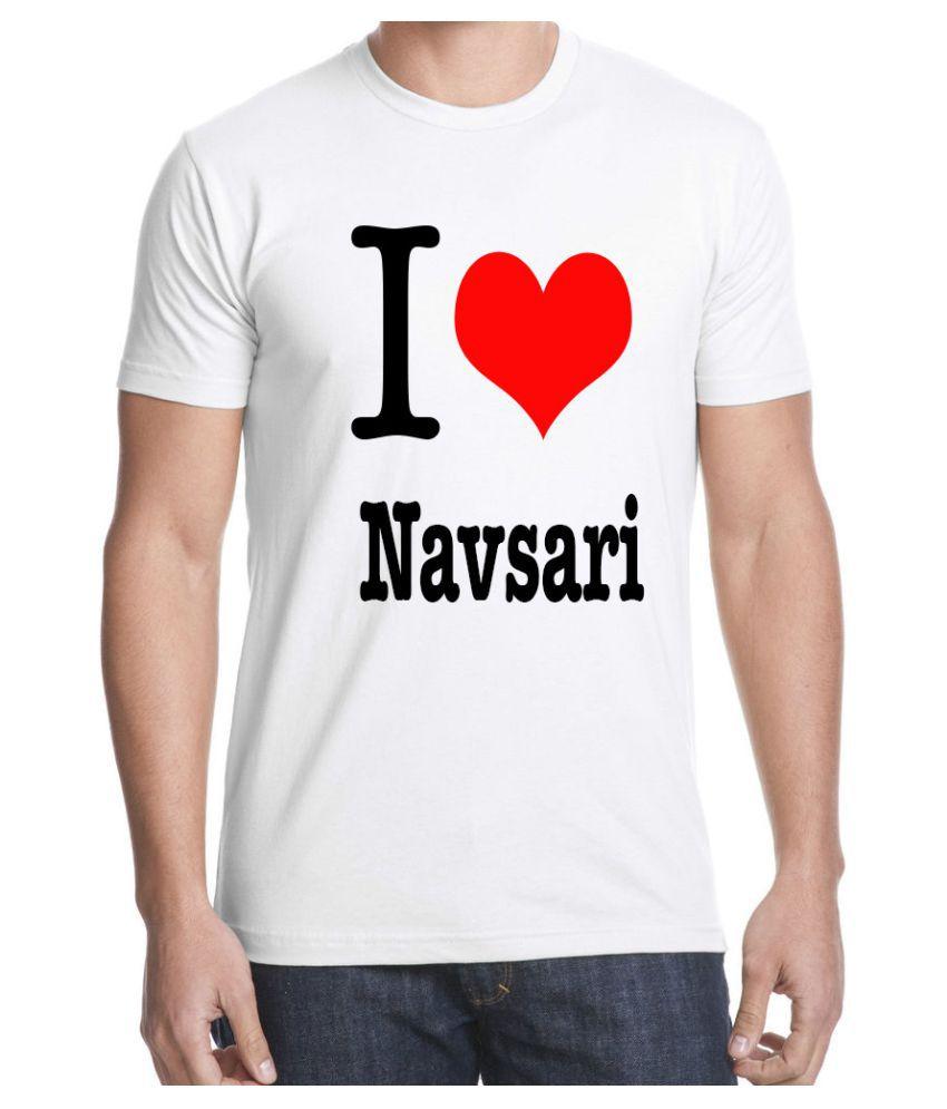 RITZEES White Dry-Fit Polyester Tshirt on I love Navsari
