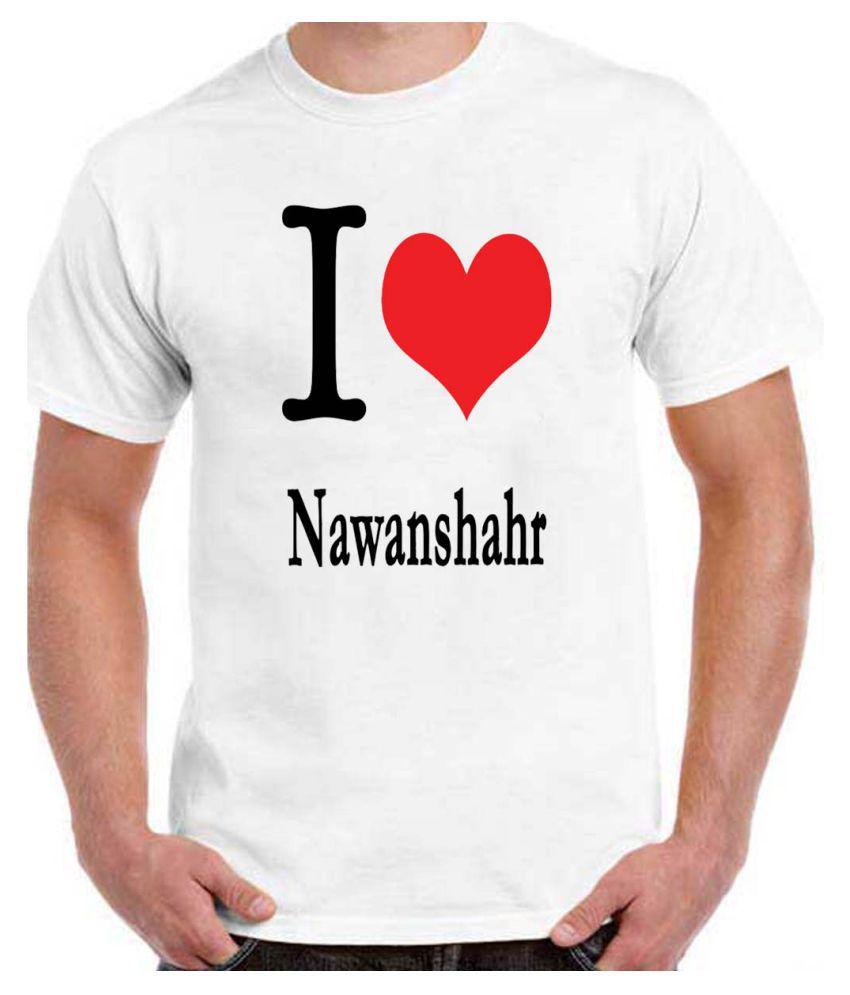 RITZEES White Dry-Fit Polyester Tshirt on I love Nawanshahr