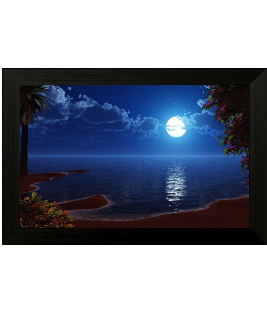 Style as Fashion Moon MDF Painting With Frame