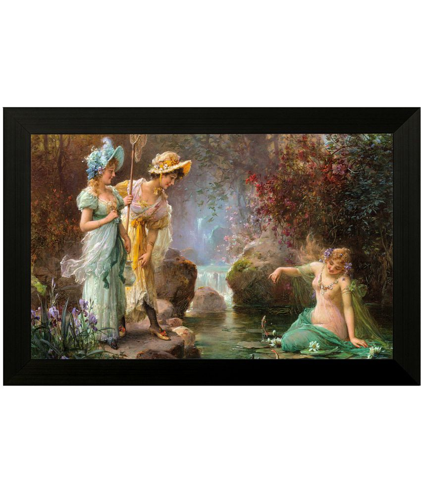 Style as Fashion Women Figurative MDF Painting With Frame