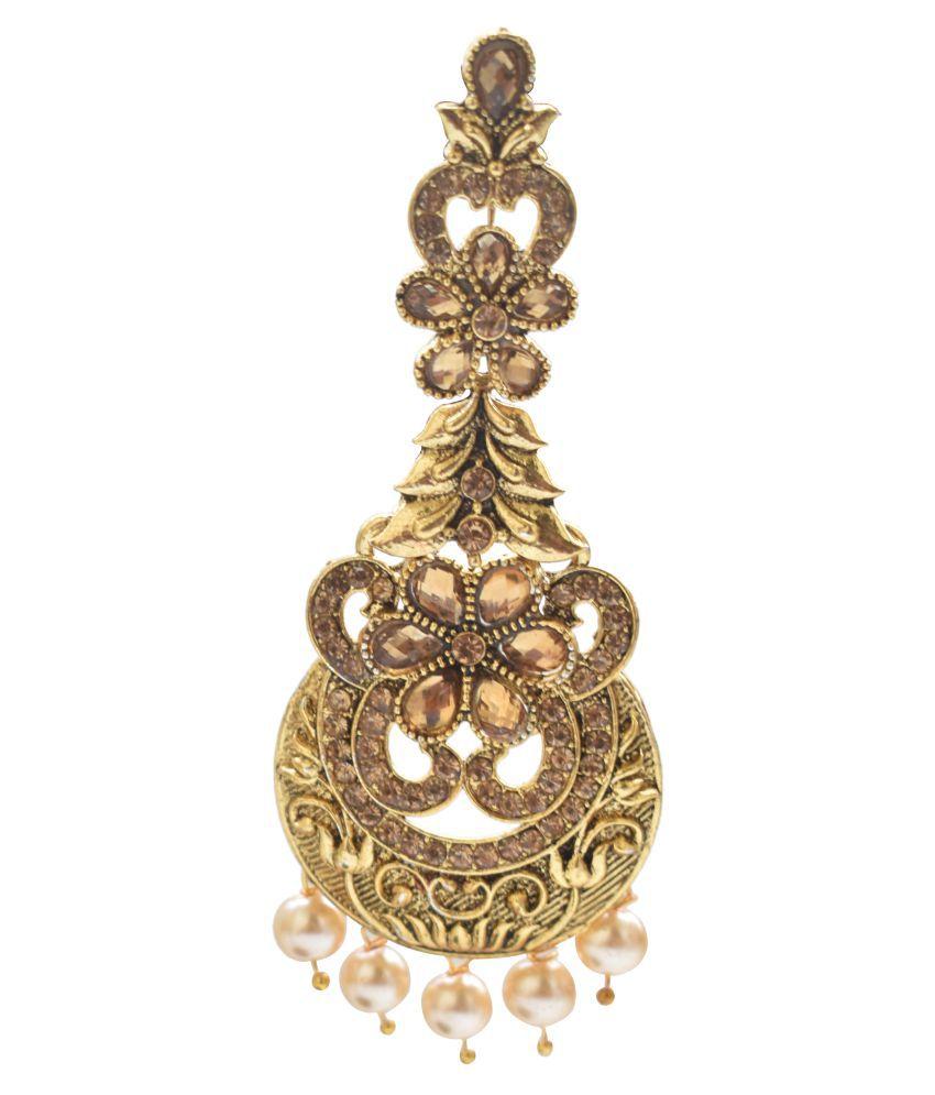 Fashion Empire Traditional Kundan with Pearl Long Earring Jewellery Stylish Fancy Party Wear Earrings For Women