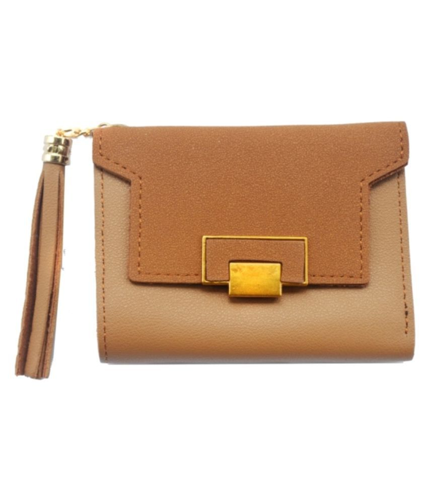 JG Shoppe Beige Faux Leather Handheld