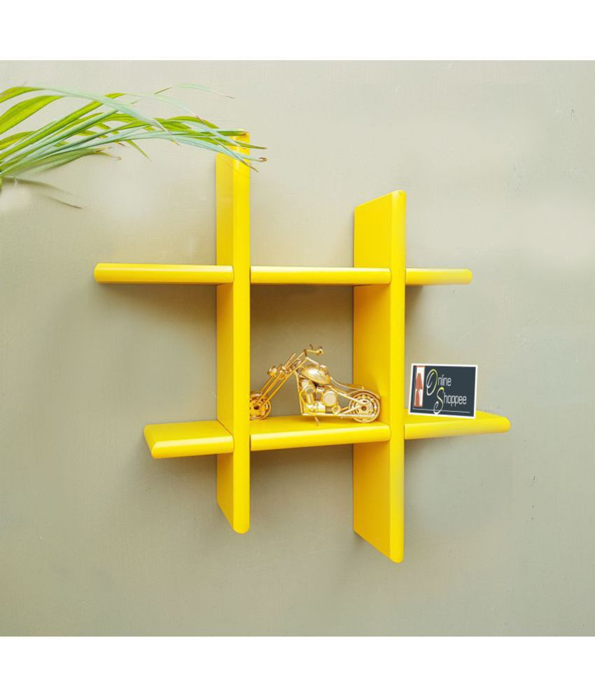 Onlineshoppee Floating Shelves Yellow MDF - Pack of 1