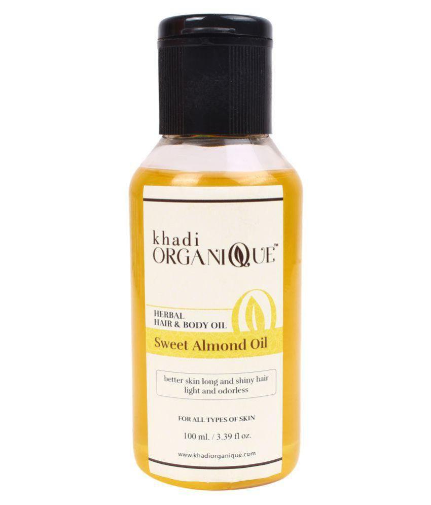 KHADI ORGANIQUE Sweet Almond full Body massage Oil Body Massage oil 200 ml Pack of 2