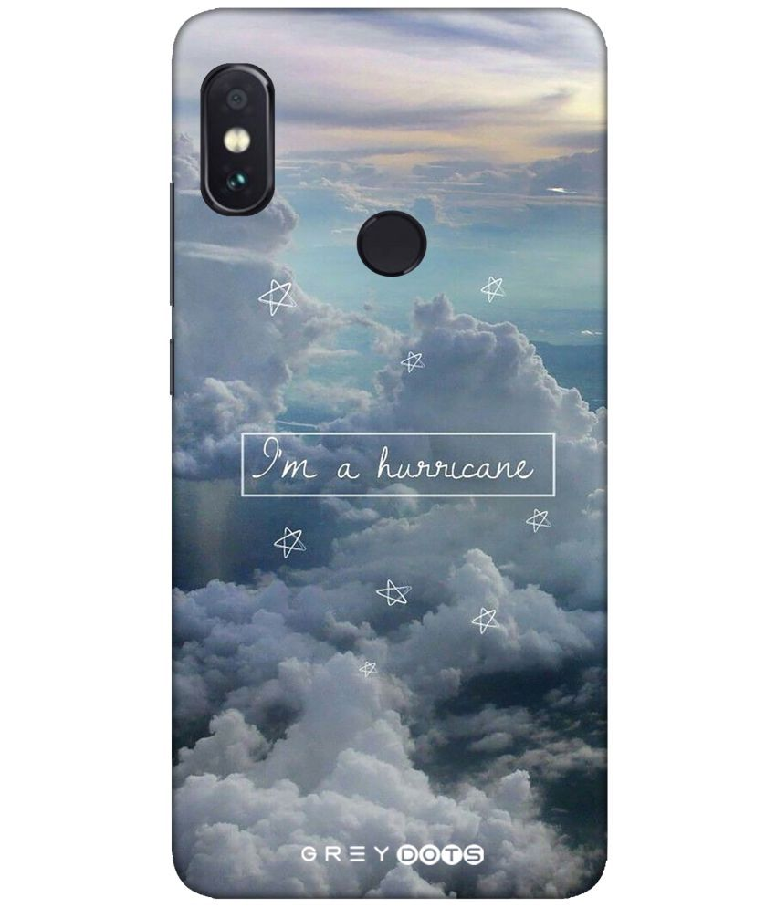 buy popular c7369 bd4bc Xiaomi Redmi Note 5 Pro 3D Back Covers By GREY DOTS I m huricanne cover