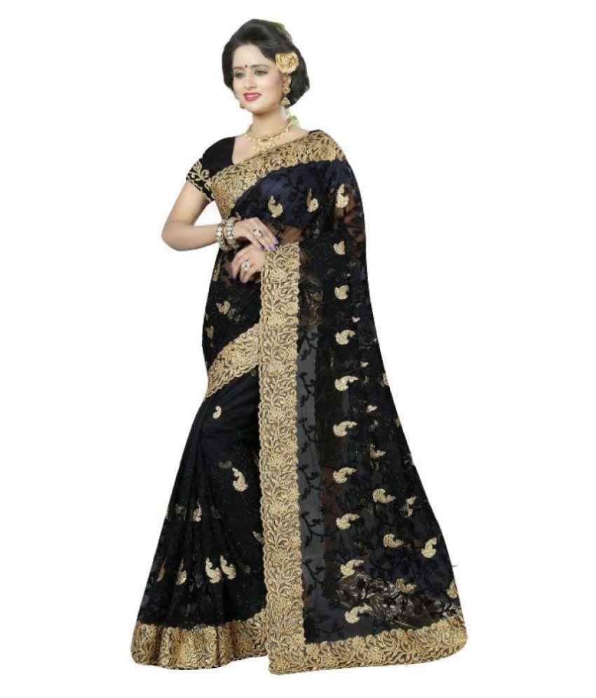 Designer Bahu Black Net Saree