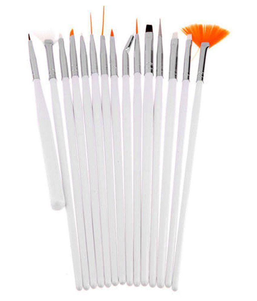Top Nail Nail Art Brush Set Combo Nails 15 no.s