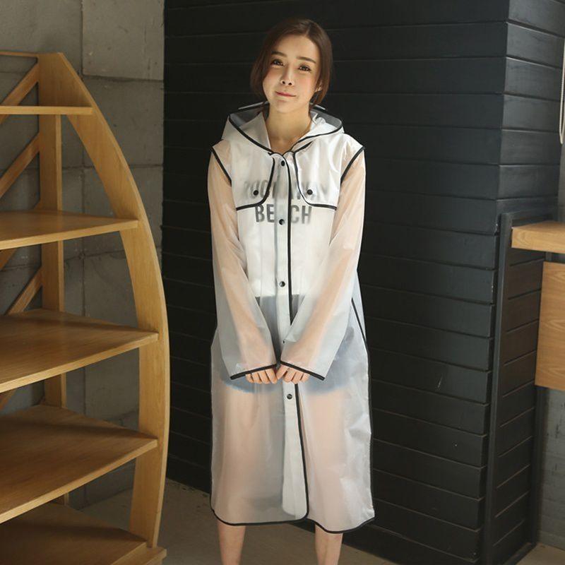 Changing Destiny Waterproof Long Raincoat - Black