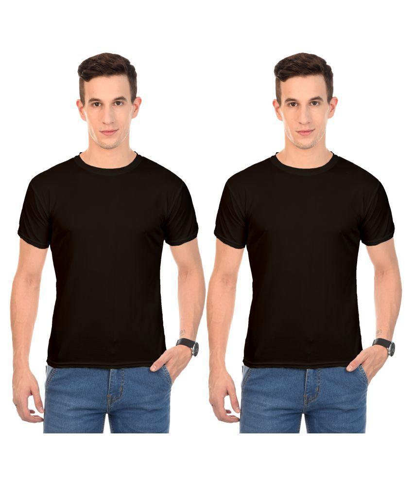 Arod Black Round T-Shirt Pack of 2