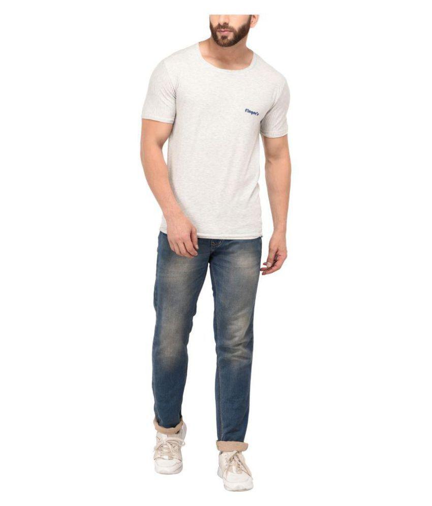 Finger's Grey V-Neck T-Shirt