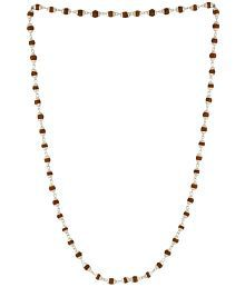 Voylla Men's Chain Encrusted With Rudraksha Beads