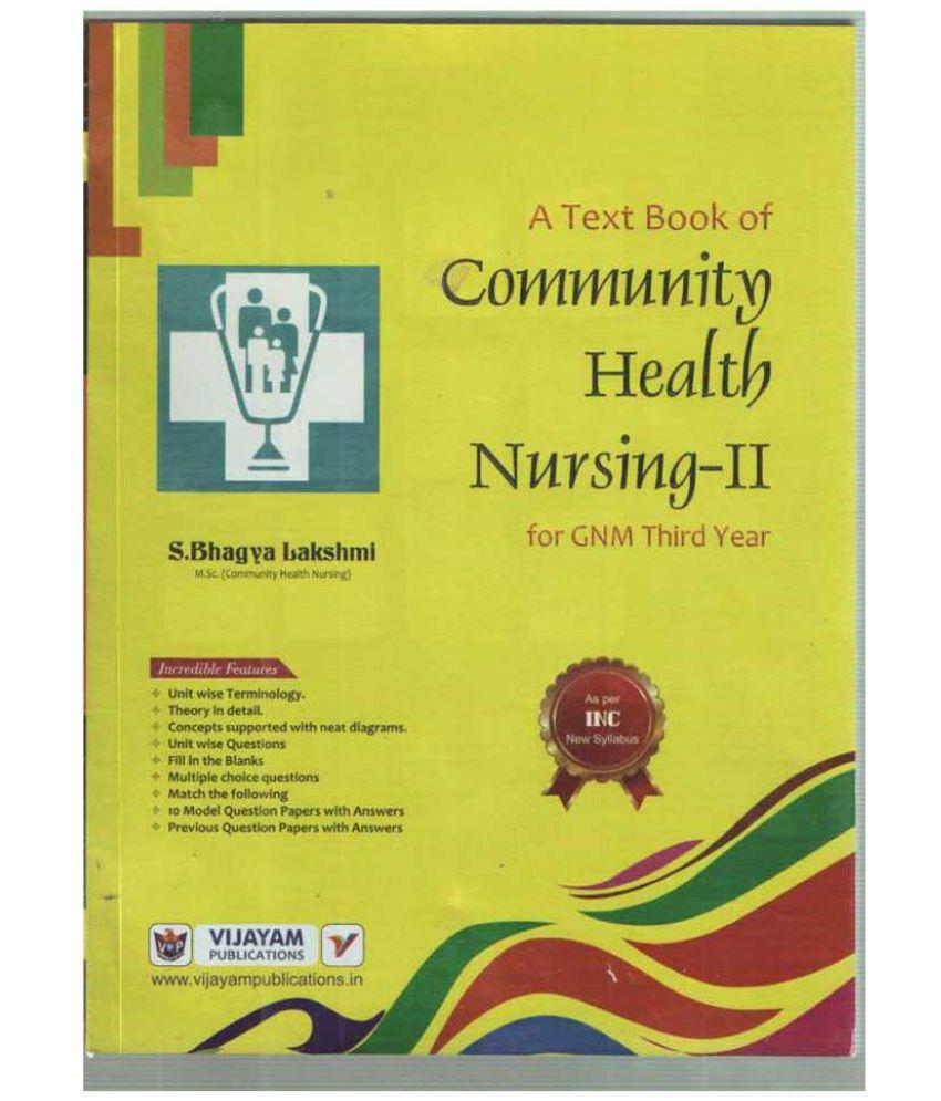A Text Book Of Community Health Nursing-Ii
