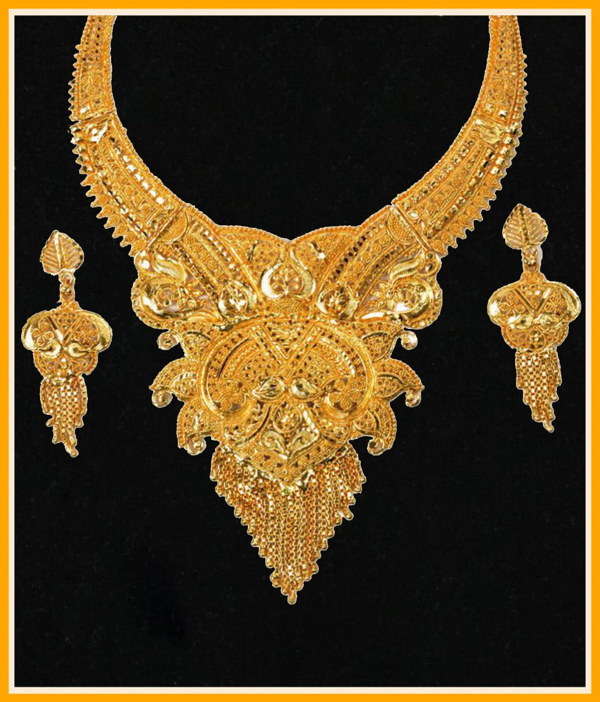Mansiyaorange Traditional Original Look One Gram Gold