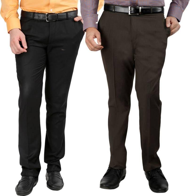 Style Multi Regular -Fit Flat Trousers