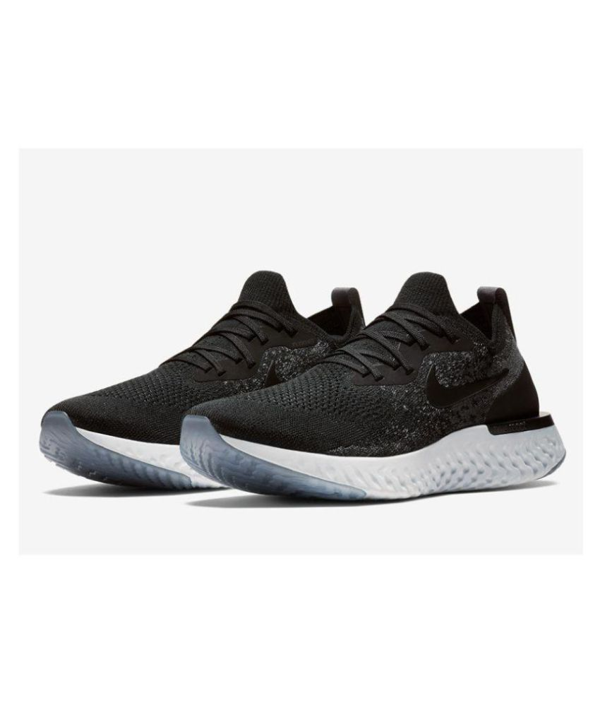 74d7067651b45 Nike EPIC REACT FLYKNIT Black Running Shoes - Buy Nike EPIC REACT FLYKNIT  Black Running Shoes Online at Best Prices in India on Snapdeal