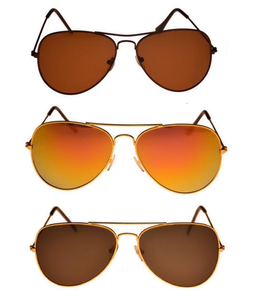 Tashan Multicolor Aviator Sunglasses ( AVIATOR-11-13-14 )