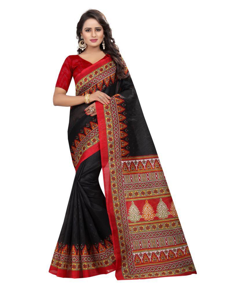 Tithi Kumari Black Bhagalpuri Silk Saree