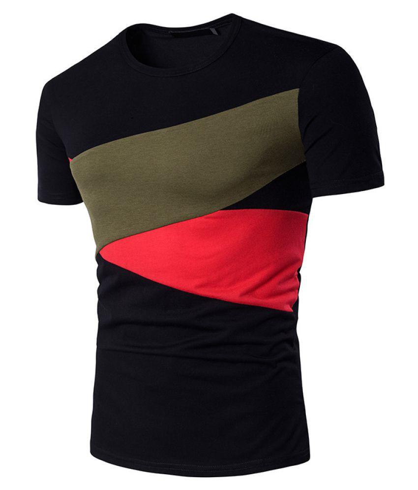 Duomu Black Round T-Shirt