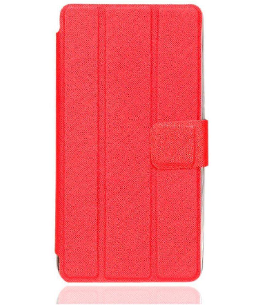 Lenovo TAB PHAB 2 PLUS / PB1-670 Flip Cover By Generic Brand Red