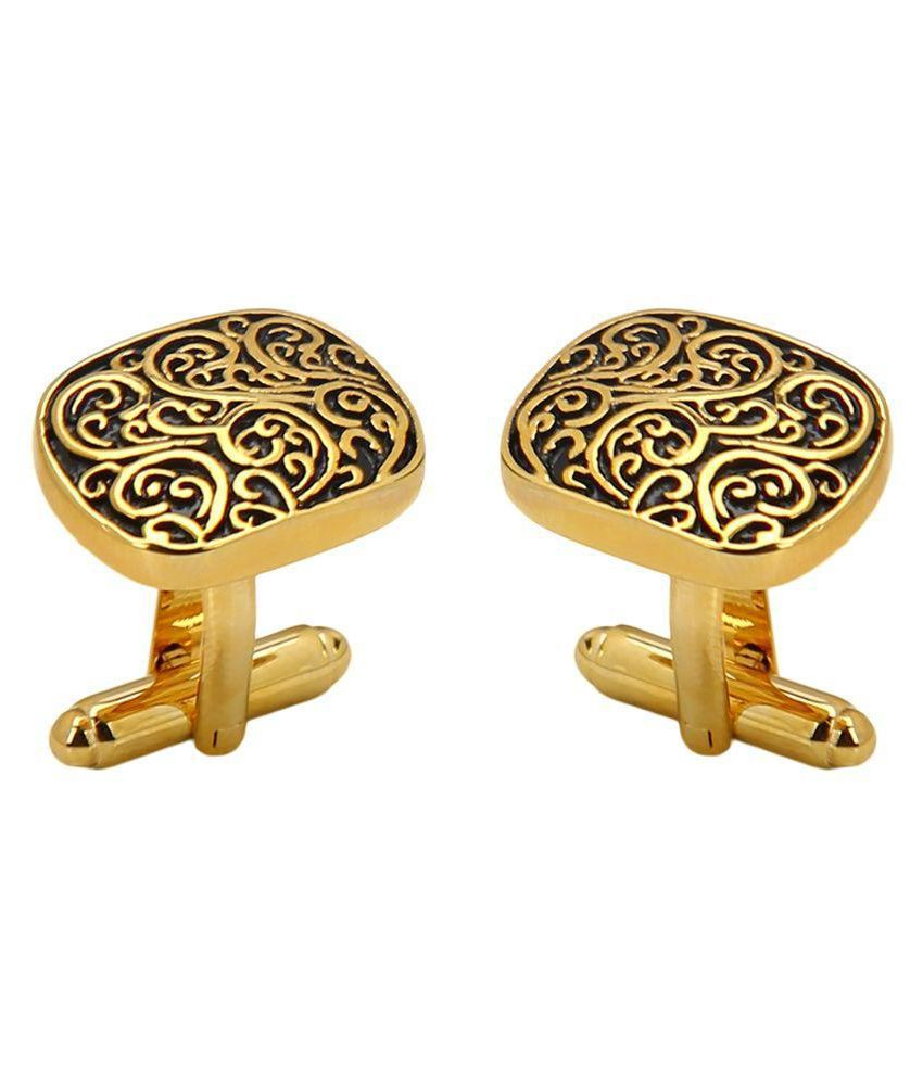 Beadnicks Heart Jewellery Copper Cufflink Plating Gold