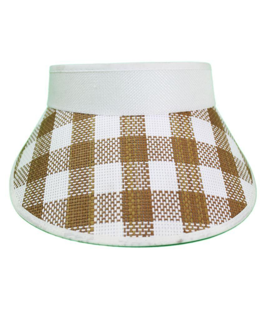 TakeInCart Brown Printed Polyester Caps