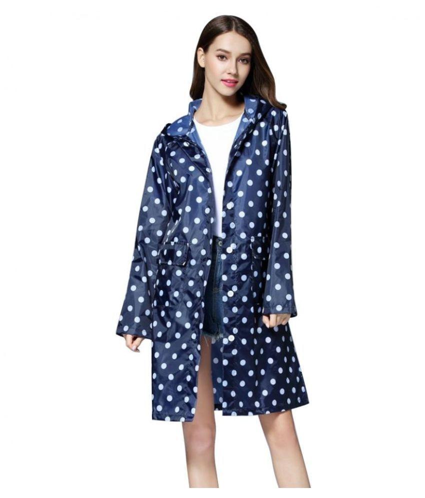 Changing Destiny Waterproof Long Raincoat - Blue