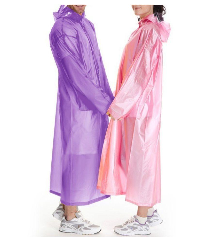 Changing Destiny Waterproof Long Raincoat - Purple