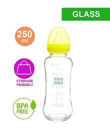 Mee Mee Premium Glass Feeding Bottle_Green (250ml)