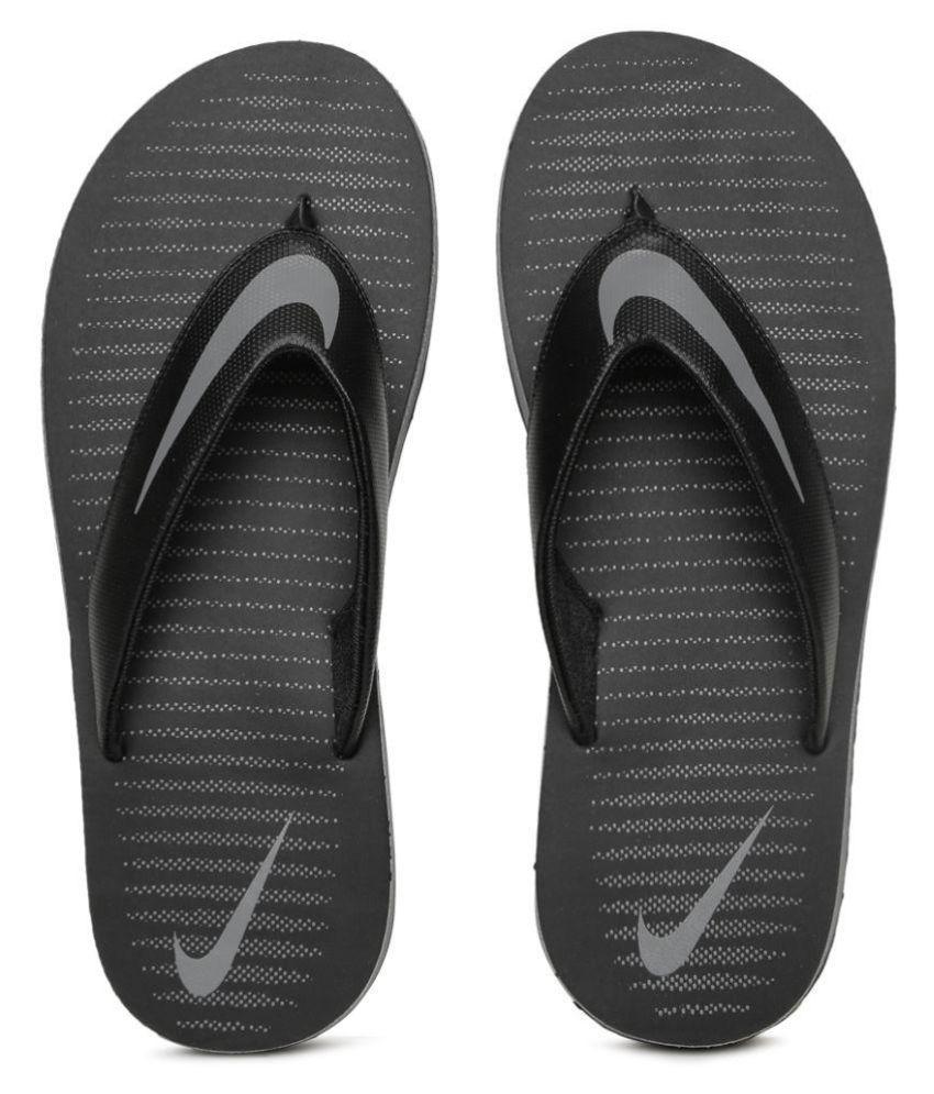 eaf78ecd6ca5 Nike Black Slide Flip flop Price in India- Buy Nike Black Slide Flip flop  Online at Snapdeal