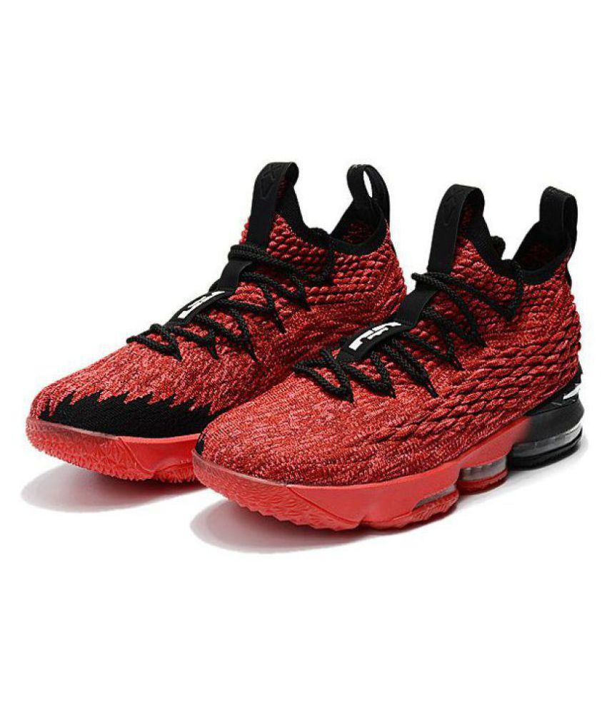 hot sales b8fe2 cacb7 Nike LEBRON 15 PE Red Basketball Shoes