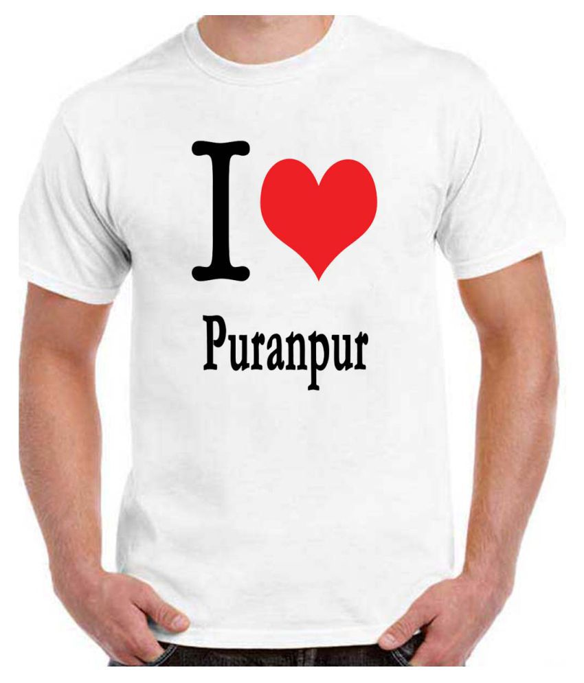 RITZEES White Dry-Fit Polyester Tshirt on I Love Puranpur